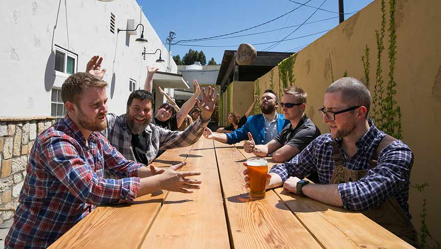 Craft brewery in Torrance includes a sunny patio for drinking with friends!